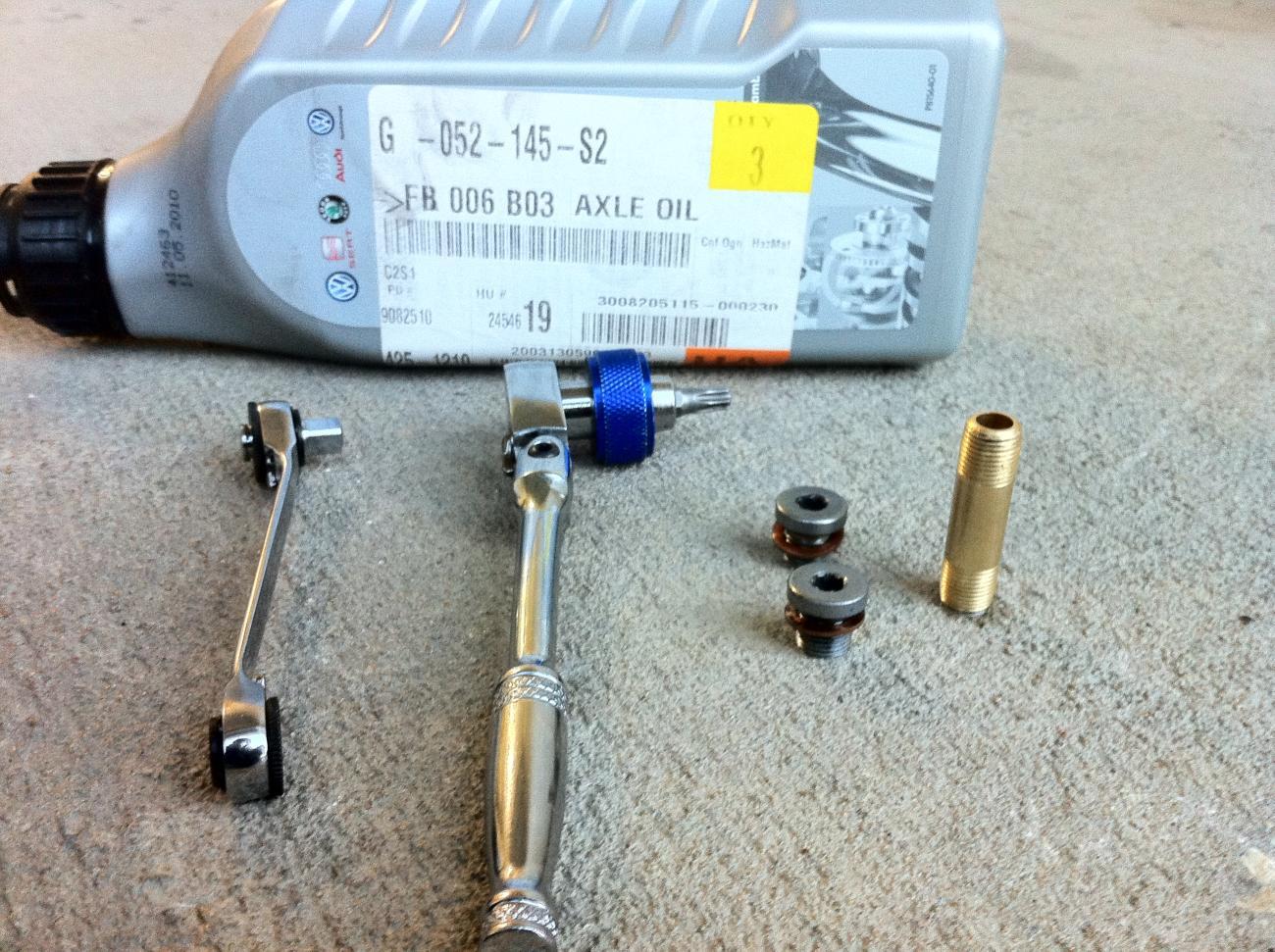MKV R32 Rear Diff Oil Change - VW GTI Forum / VW Rabbit