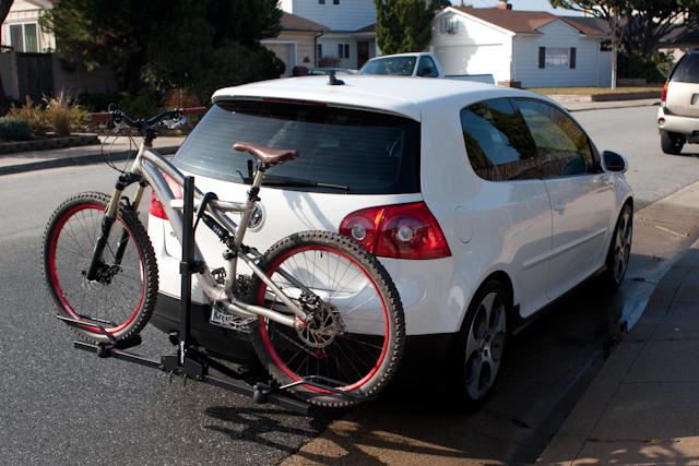 vwvortexcom mkv curt trailer hitch sportrack  bike attachment norcal