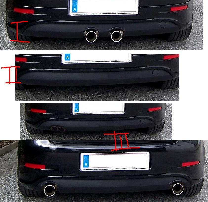 Different approach to R32 rear bumper  VW GTI Forum  VW Rabbit
